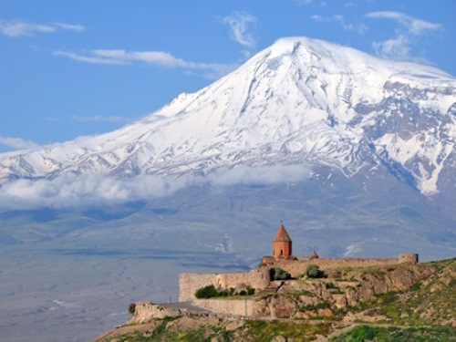 Church By Mountain, Central Asia Travell