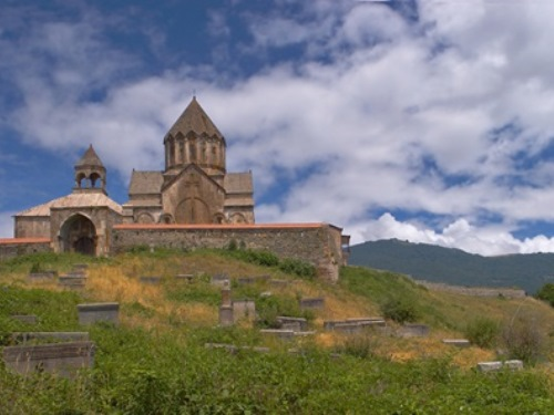 Ancient Church by Cemetory, Caucasus